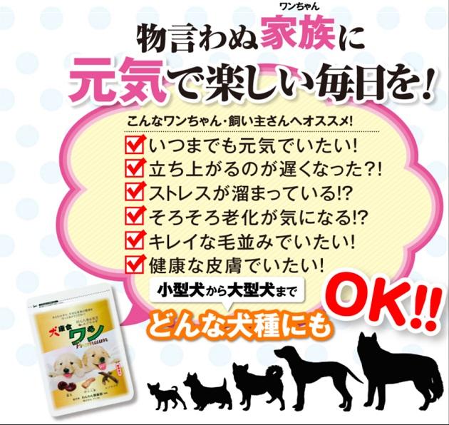 「犬康食・ワン」プレミアムの効果