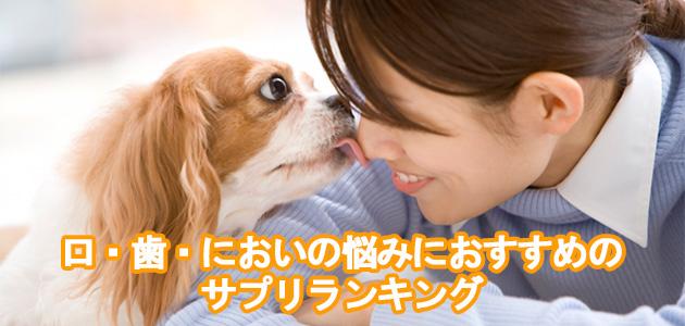 愛犬の口・歯・においの悩みにおすすめのサプリランキング